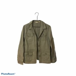 Women's military jacket tan/green size small